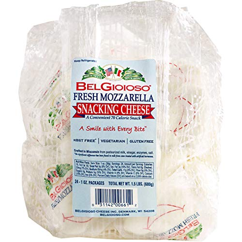 BelGioioso Fresh Mozzarella Snacking Cheese, 24 One Ounce Packages