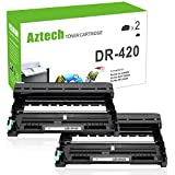 AZTECH 2-Pack Compatible DR420 DR 420 Drum Unit Replacement Drum for Brother Intellifax 2840 Brother HL-2270DW HL-2280DW MFC 7860DW 7360N DCP-7065DN Drum Unit Printer