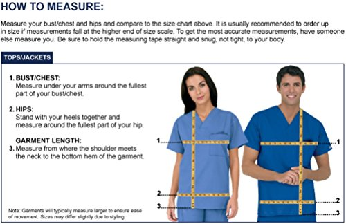 Strictly Scrubs Unisex Medical Uniform Set (XL, Navy) by Strictly Scrubs (Image #5)