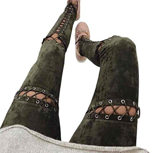Haute Manche Tissu Confortable Fleur Colour Motif Printemps Longues Croisées Chino Mode Taille Loisirs Trousers Sangles Elégante Suède 2 Fit Casual Slim De Uni En Pantalon Dame Eté RwwXH6