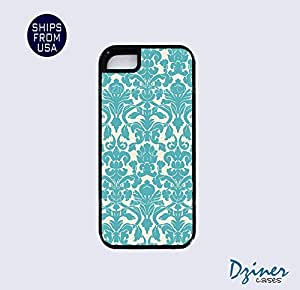 iPhone 5 5s Tough Case - Vintage Blue Damask Pattern iPhone Cover