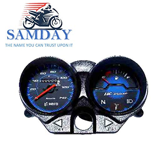 Samday Speedometer Compatible For Hero Hf Deluxe New 2015 2019 70548 Amazon In Car Motorbike