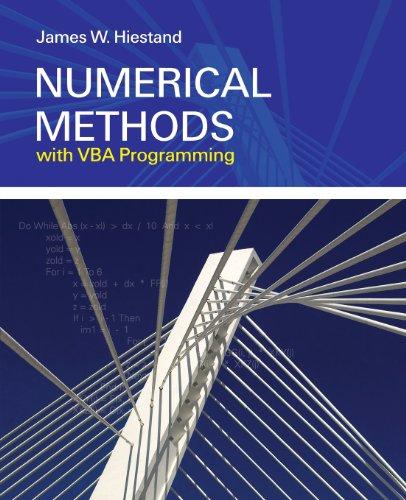 Numerical Methods with VBA Programming by Brand: Jones Bartlett Learning