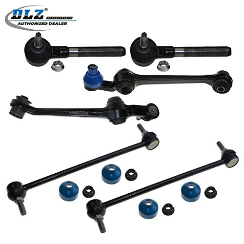 DLZ 6 Pcs Front Suspension Kit-2 Lower Control Arm & Ball Joint Assembly, 2 Outer Tie Rod End, 2 Sway Bar for 1998 1999 2000 2001 2002 2003 2004 Chrysler Concorde/Chrysler Intrepid/Dodge Intrepid