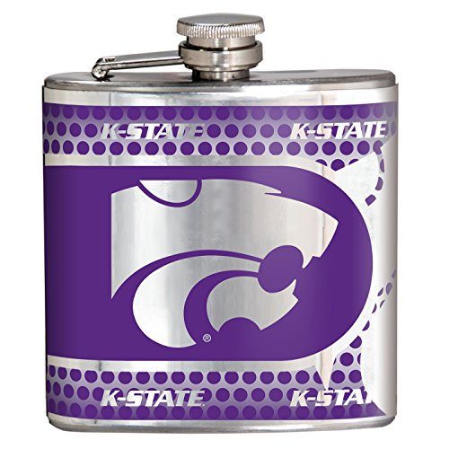 Great American Products NCAA Kansas State Wildcats Hip Flask, One Size, Black -