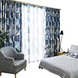 Blackout Linen Bedroom Fabric Screens soundproof Living Room Curtain Finished Atmosphere Versatile Landing (Size : 2 * 2.7m)