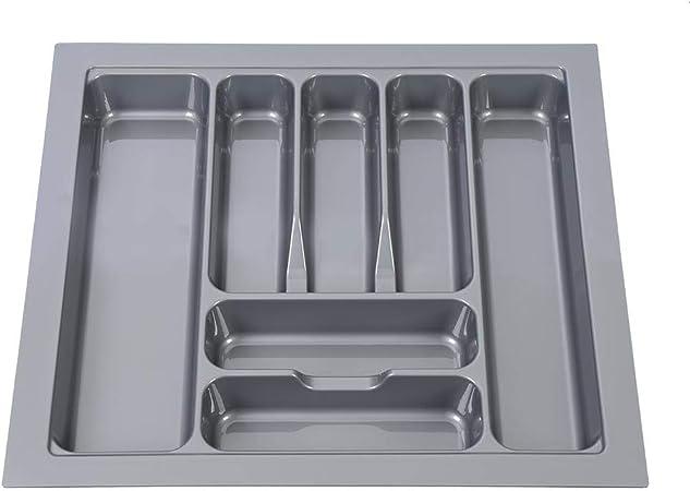 600 mm Bandeja de Cubiertos de Cajón,Caja de Almacenamiento de Cuchillos y Tenedores de Cocina,7 Compartimentos,Plástico, 54 x 48.5 x 6 cm(Gris): Amazon.es: Hogar