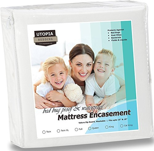 Utopia Bedding Waterproof Zippered Encasement