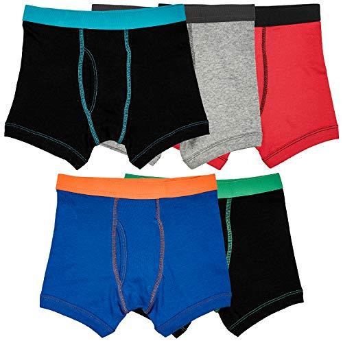Trimfit Boys 100% Cotton Tagless Boxer Briefs 5-Pack, Contrast Trim, X-Large / ()