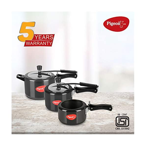 Pigeon-Hard-Anodised-Pressure-Cooker-Combo-2-3-5-Litre-Inner-Lid-with-Induction-base