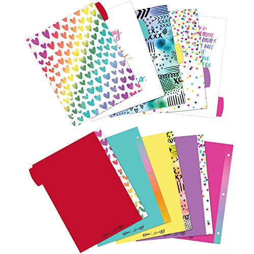 Avery + Amy Tangerine Designer Collection Big Tab Dividers