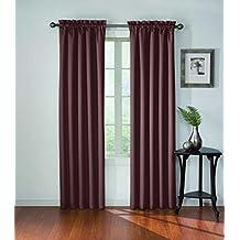 "Eclipse Corinne Blackout Window Curtain Panel, 42"" x 84"", Plum"