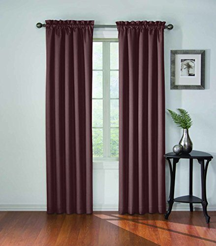 Eclipse 11048042X063PLM Corinne Blackout 42-Inch by 63-Inch Window Single Curtain Panel, Plum