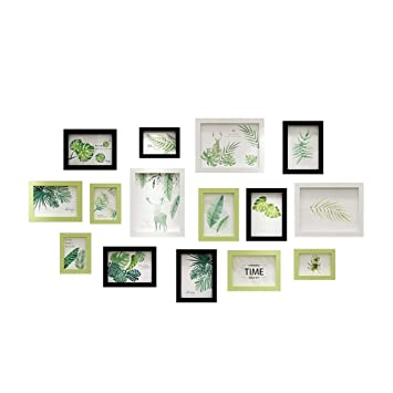 Amazon com - LSBY Photo Picture Frame Wall Set-15 Frames