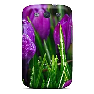 Fashion JnWoXAr8291CTuLh Case Cover For Galaxy S3(purple Strange Flowers)