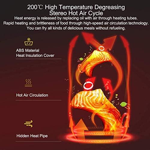 zyl Friteuse à air 1400 W 7 Modes de Cuisson préréglés avec minuterie et contrôle de température réglable pour Une friture rôtie sans Huile ou Une Cuisson Saine et Faible en Gras