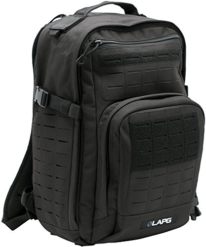 LA Police Gear Atlas 12H MOLLE Tactical Backpack for Hiking, Rucksack, Bug Out, or Hunting-Black