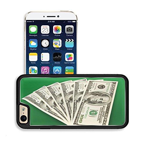 Luxlady Premium Apple iPhone 6 iPhone 6S Aluminium Snap Case money concept several dollars banknotes over green IMAGE 36370297