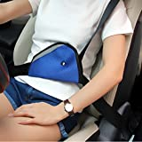 Car Child Safety Cover Harness Pad Comfortable Protection Strap Adjuster Mash Pad Kids Seat Belt Seatbelt Clip Booster Adult Children Air Mesh Fabric- Gray