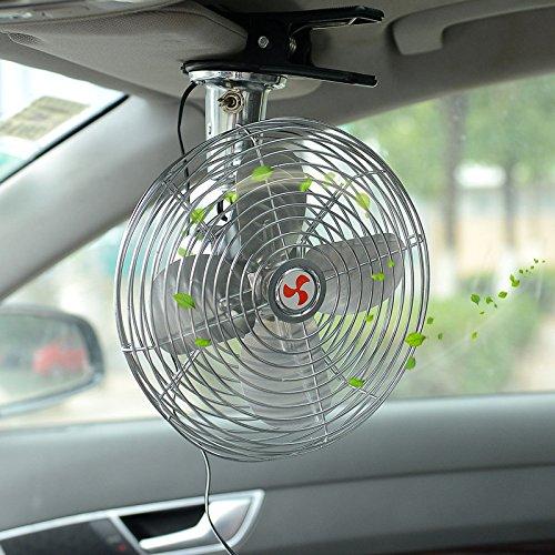 good Ventilateur de voiture, ventilateur de voiture de 12V,, ventilateur de climatiseur de ventilateur, ventilateur vertical et horizontalement réglable