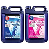 Chemiphase TWIN PACK - NO-RINSE BLUE CHEMICAL FLUID & PINK TOILET RINSE 10L