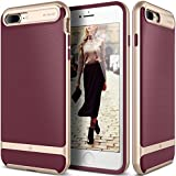 Caseology Wavelength Series iPhone 8 Plus / 7 Plus Cover Case with Pattern Slim Protective for Apple iPhone 7 Plus (2016) / iPhone 8 Plus (2017) - Burgundy