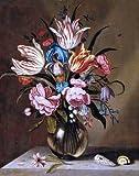 Art Oyster Abraham Bosschaert Flowers in a Glass Vase - 16.1'' x 20.1'' Premium Archival Print