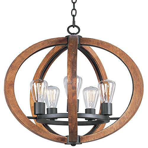Maxim Lighting 20917APAR_a Bodega Bay-Single-Tier Chandelier 5, (Forged Iron 5 Light Chandelier)
