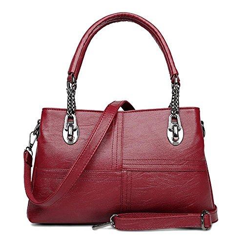 Aoligei Seule épaule sac féminin chaîne d'âge mûr lady sac à main en cuir souple femelle romain fashion messager sac C