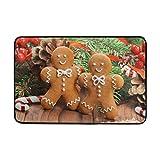 Huishe1 Non Slip Doormats Washable Door Mat,Christmas Homemade Gingerbread Man Cookies Indoor Outdoor Entrance Doormat Bathroom Floor Mats,23.6 x 15.7 inch