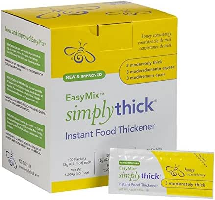 SimplyThick Easy Mix Gel Thickener- 12g Individual Packets- 100 Ct