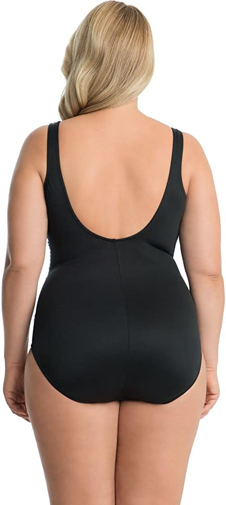 Miraclesuit Night Lights Layered Escape Underwire One Piece Swimsuit