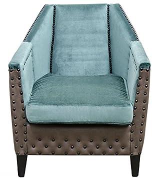 Casa-Padrino sillón de Lujo Turquesa/marrón / Negro 61 x 71 ...