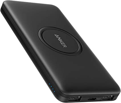 Amazon Com Anker Wireless Power Bank Powercore 10 000mah Portable Charger With Usb C Input Only External Battery Pack Compatible With Iphone 12 Mini Pro Pro Max Samsung Ipad 2020 Pro Airpods And More