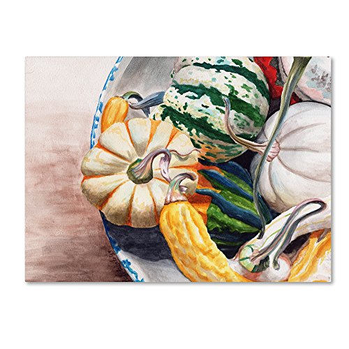 Trademark Fine Art 'Autumn Gourds' Gallery Wrapped Canvas Art by Jennifer Redstreake,