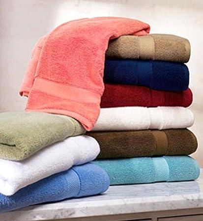 Pack de 6 toallas de baño de 100% algodón, 550 g/m2 Toallas