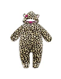 Vine Baby Cute Cartoon Fleece Hooded Romper Newborn Snowsuit Toddlers Playsuits Infant Fall/Winter Outwear Outfit