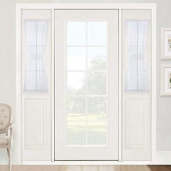 Amazon Jody Clarke 2pc French Door Panel Sheer Sidelight Door