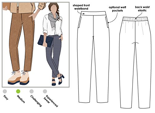 Style Arc Sewing Pattern - Talia Woven Pant (Sizes 04-16) - Click for Other Sizes - Lady Arc