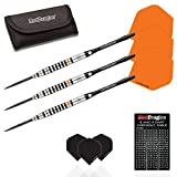 Red Dragon Amberjack 14: 23g - 90% Tungsten Steel Darts with Flights, Shafts, Wallet & Red Dragon Checkout Card