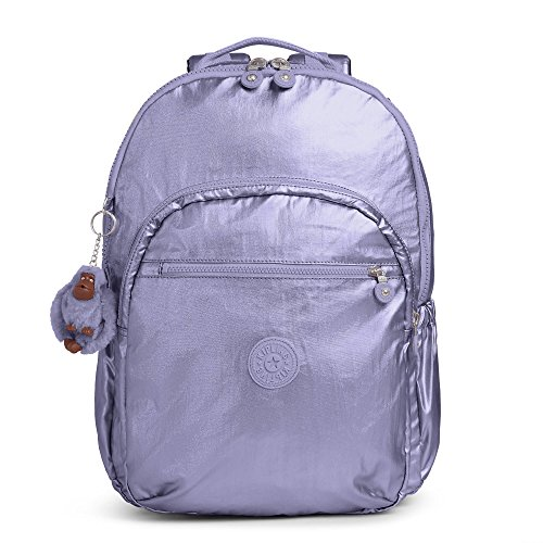 Kipling Women's Seoul Go Extra Large Metallic Laptop Backpack One Size Metallic Mist Purple