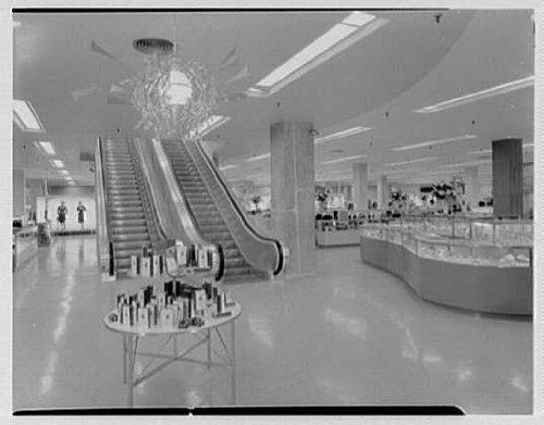 Photo: Bloomingdale's, business in Hackensack, New Jersey. Escalators