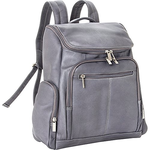 Le Donne Leather LD-4020-Gray Laptop Backpack by Le Donne Leather