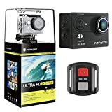 FITFORT FT7500 Action Camera, 4K Ultra HD Wifi Waterproof 170 Degree Wide Angle 12 MP DV Camcorder Sports Camera with 2.4G Remote Control ,2 Inch LCD Screen, 21050mAh Batteries,19 Mountings Kits Action Cameras FITFORT