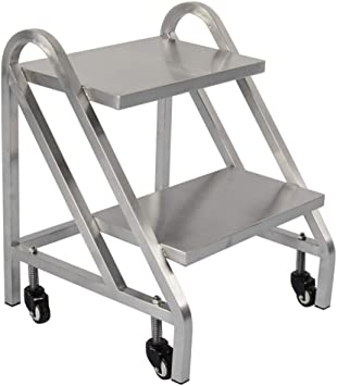 Escalera plegable Escalera dedicada para almacén, metal Escalera silenciosa de polea Escalera de dos pasos Tamaño de escalera 485 * 600 * 600MM Multifuncional (color : B, Tamaño : 485 * 600 * 600MM): Amazon.es: Bricolaje y herramientas
