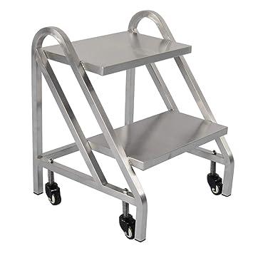 KJZ Escalera dedicada para almacén, metal Escalera silenciosa de polea Escalera de dos pasos Tamaño