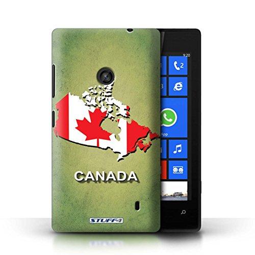 Kobalt® Imprimé Etui / Coque pour Nokia Lumia 520 / Canada conception / Série Drapeau Pays