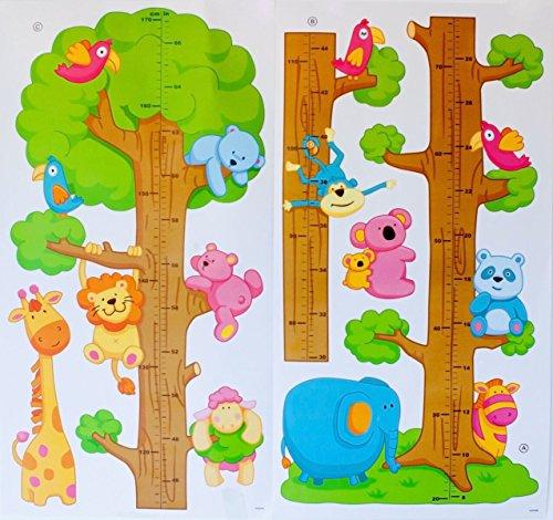 Animals Elephant Giraffe Height Measurement Wall Sticker - 6