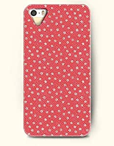 OOFIT Phone Case design with Little White Flower Pattern for Apple iPhone 5 5s 5g