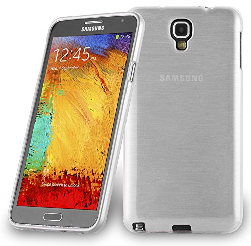 Cadorabo - Silicone TPU Case for Samsung Galaxy NOTE 3 NEO (N7505) Design Brushed STAINLESS-STEEL-LOOK – Etui Cover Protection Bumper Skin in SILVER